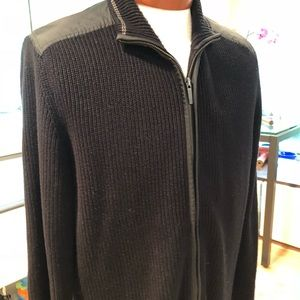 KENNETH COLE XL ZIP UP SWEATER LIKE NEW